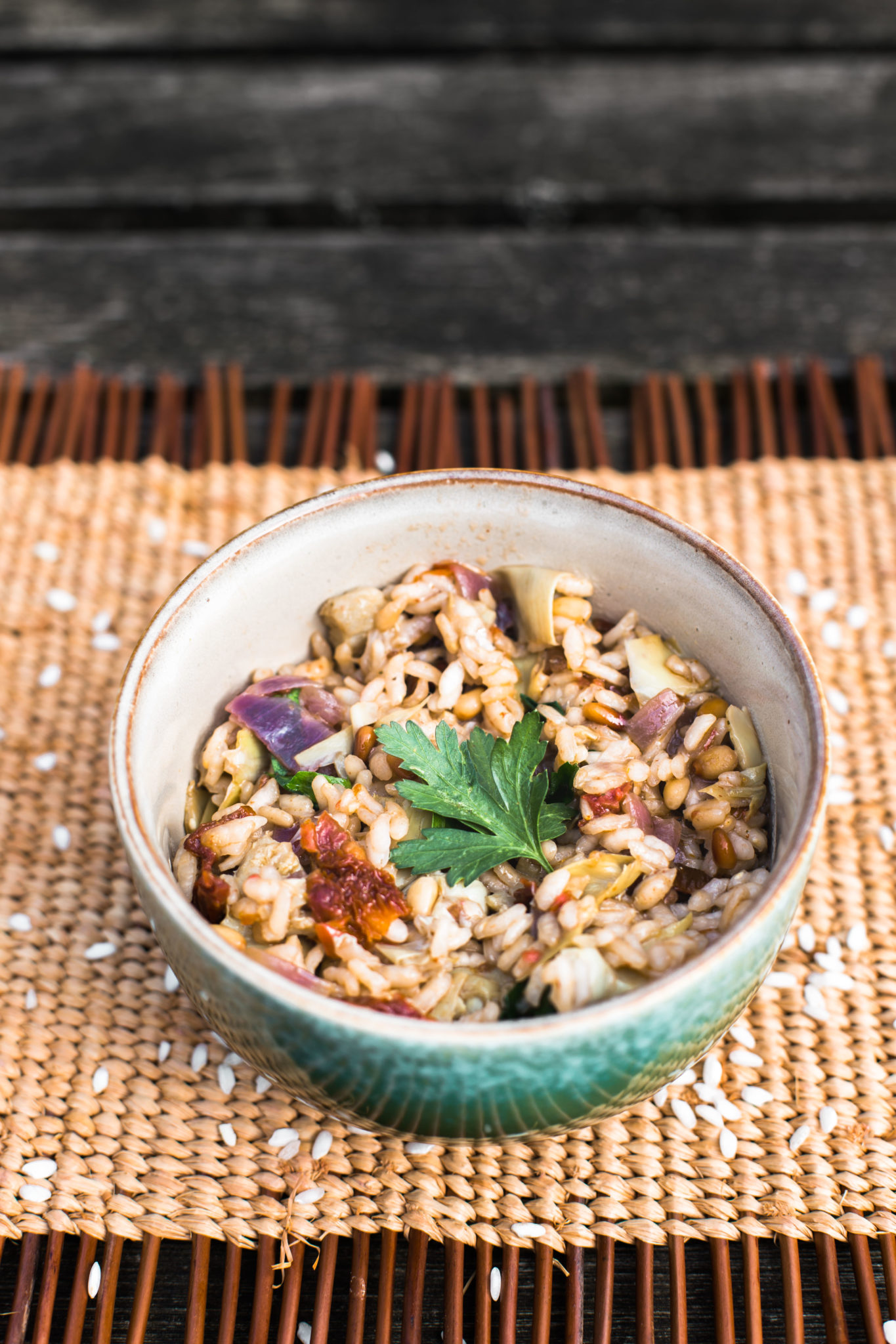 Recept risotto met artisjokken en zongedroogde