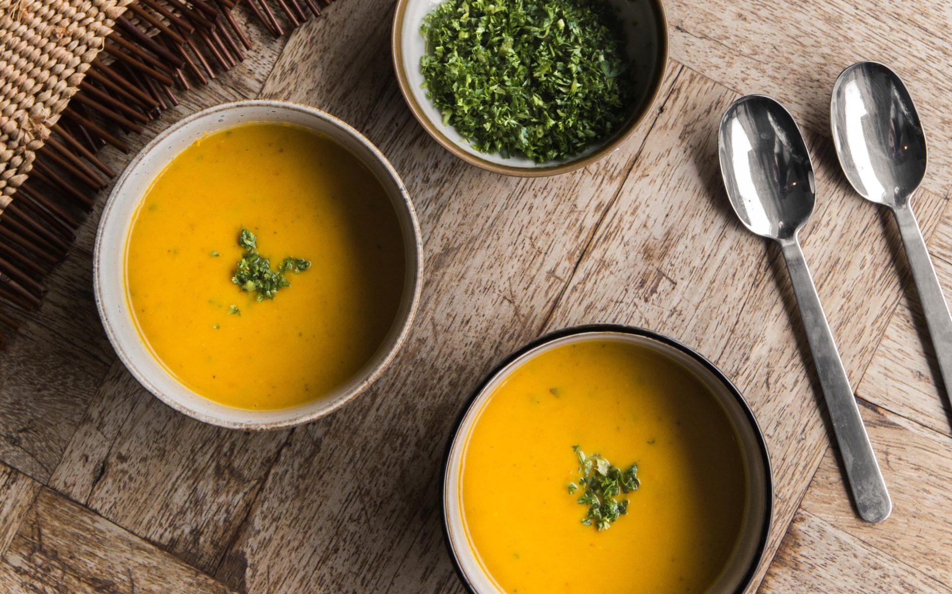 Recept voor pittige pompoensoep