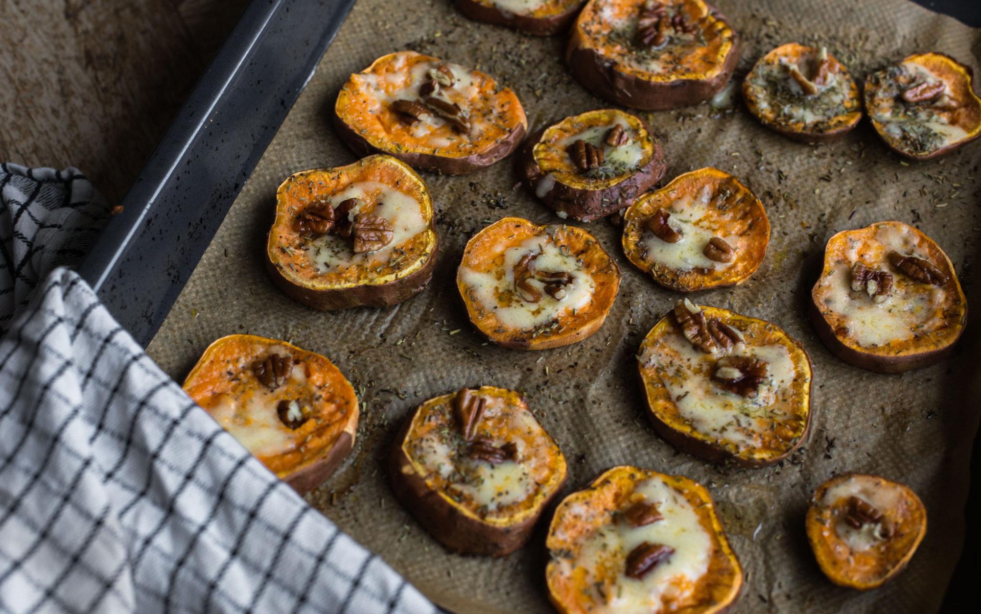 Recept voor zoete aardappel uit de oven met pecannoten