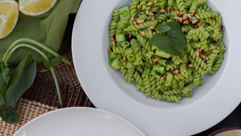 Recept - Doperwtenpasta met courgette