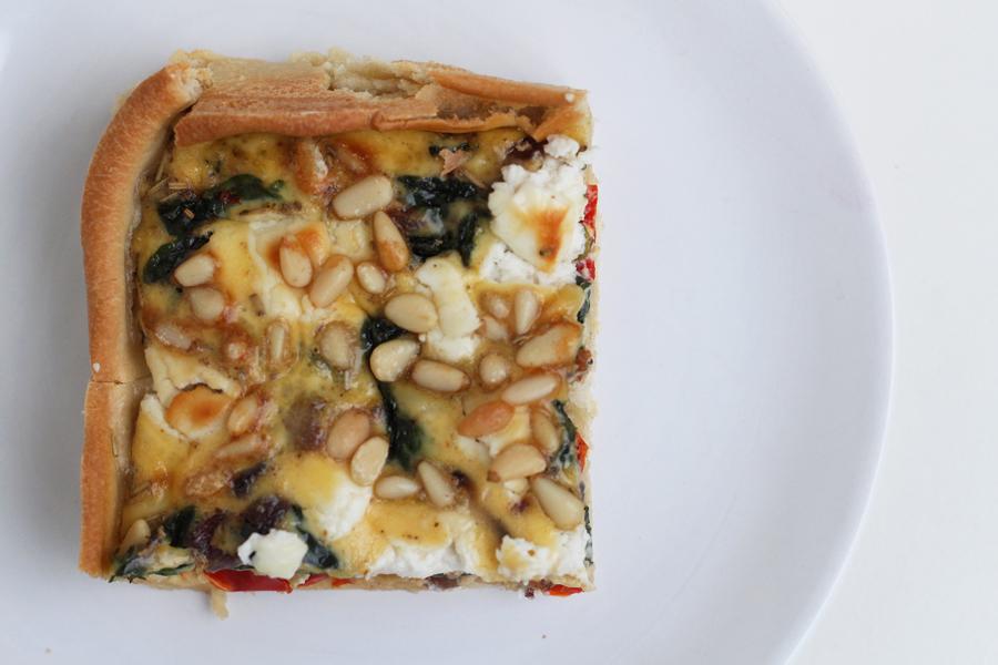 Recept: quiche met geitenkaas en spinazie
