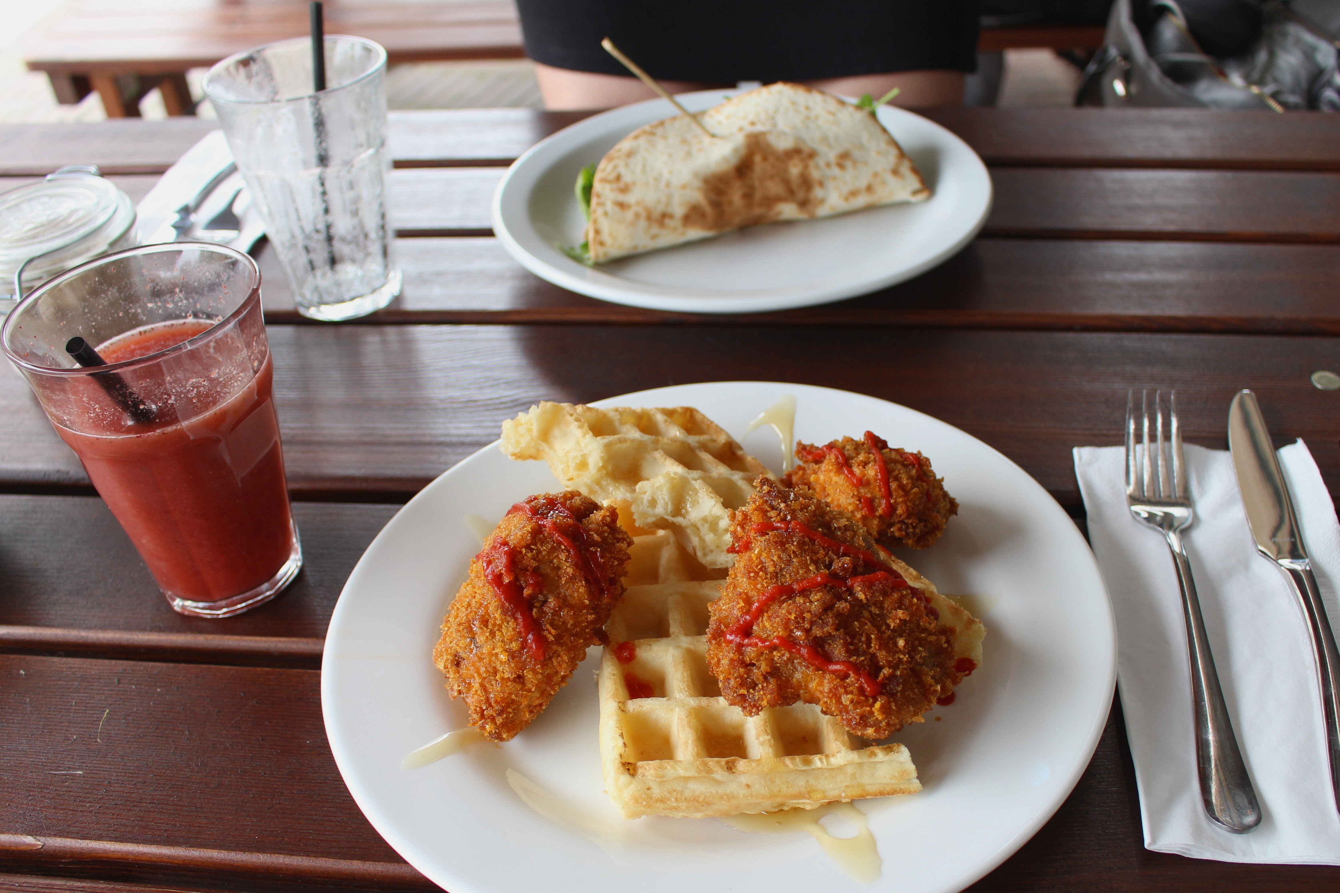 Chicken and waffles in Amsterdam