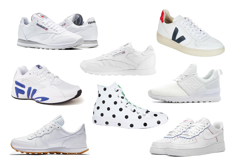 Witte sneakers via webshop Sportshowroom