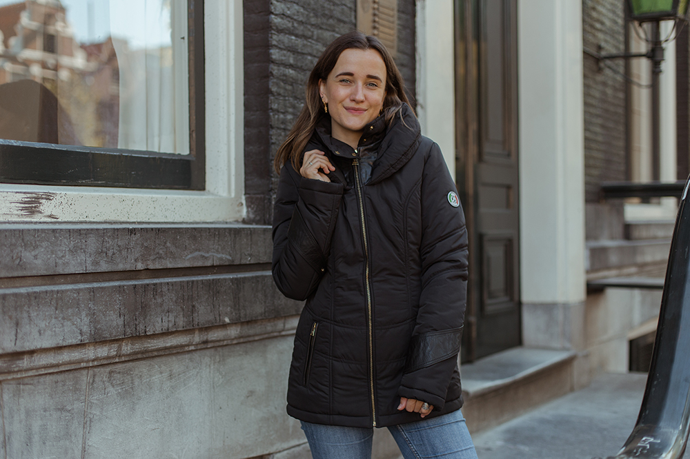 Een warme winterjas van webshop Style Italy