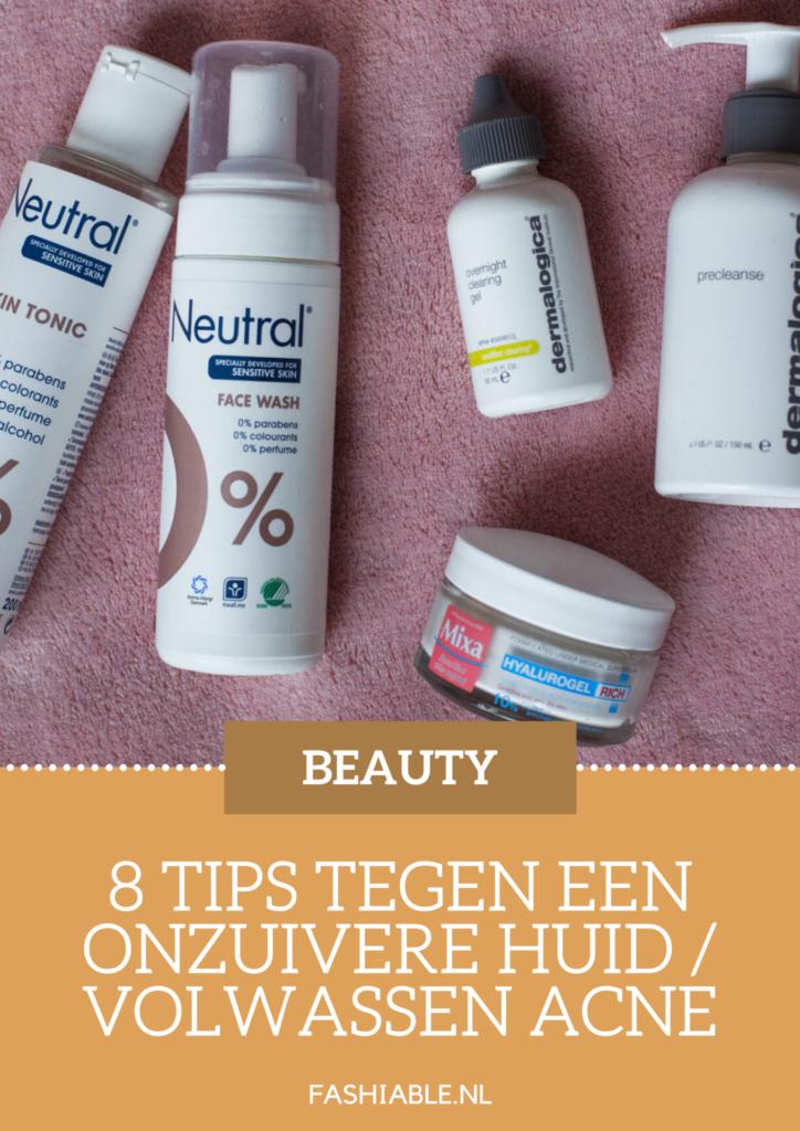 Wat te doen tegen acne bij volwassenen? 8 tips