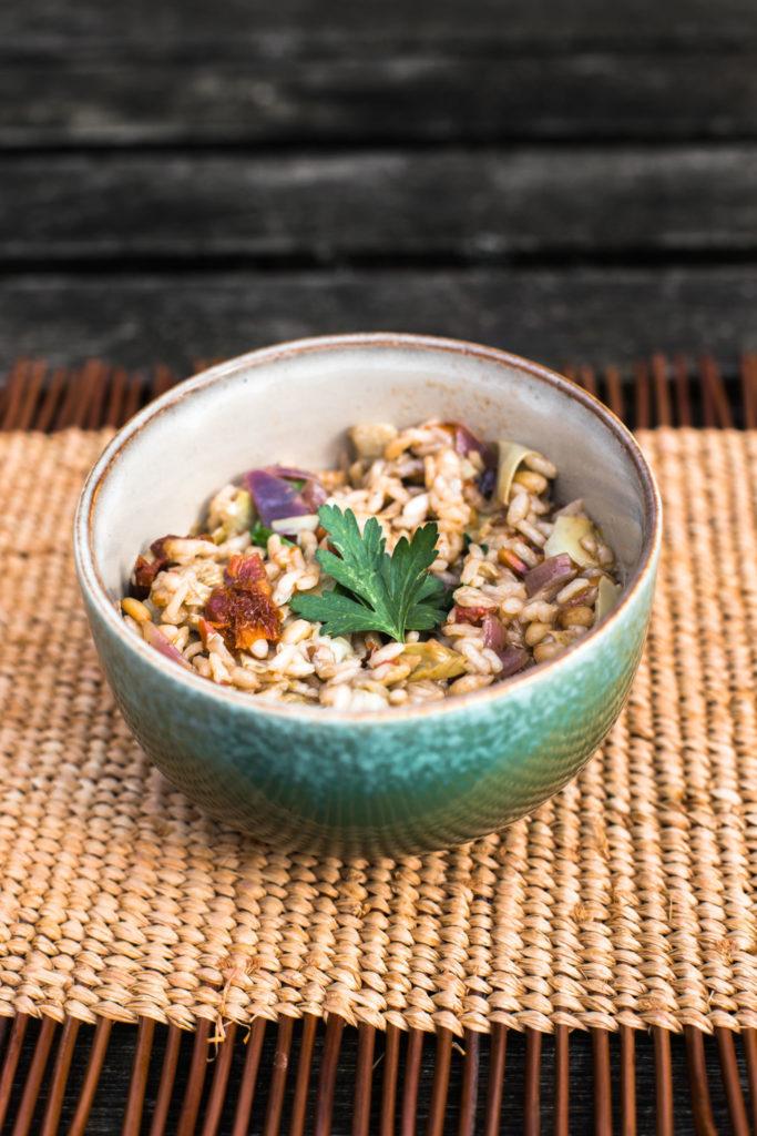 Vegetarische recepten: risotto met artisjok en zongedroogde tomaat