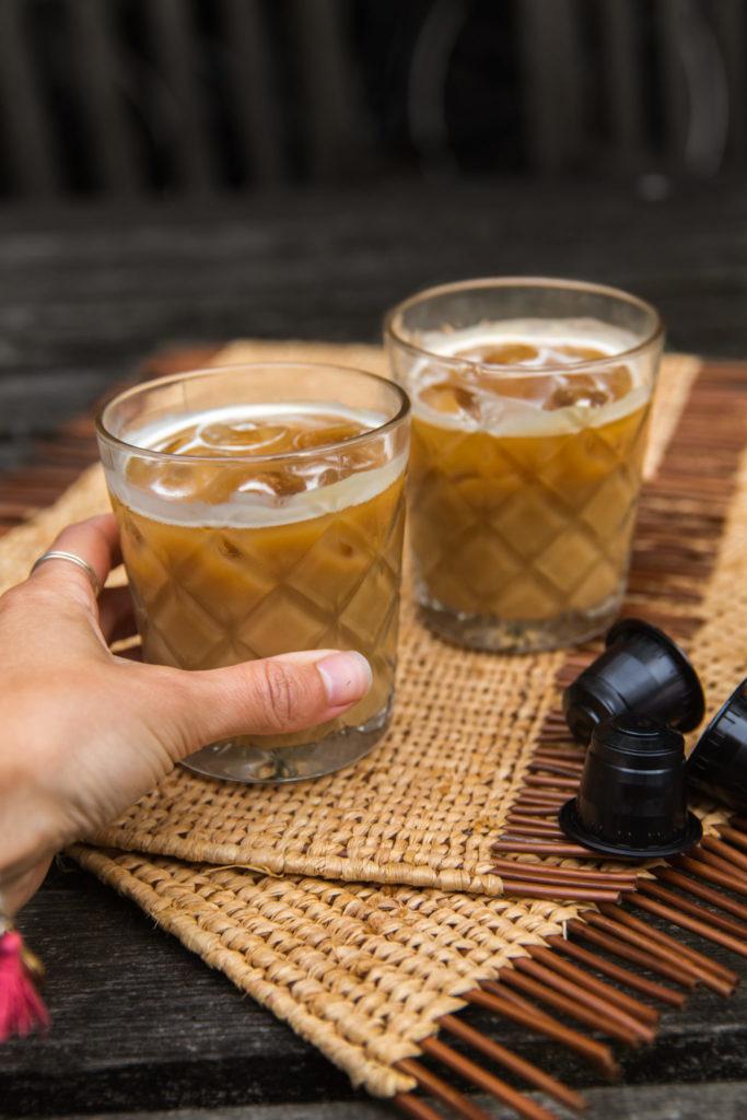 IJskoffie recept met havermelk en vanille