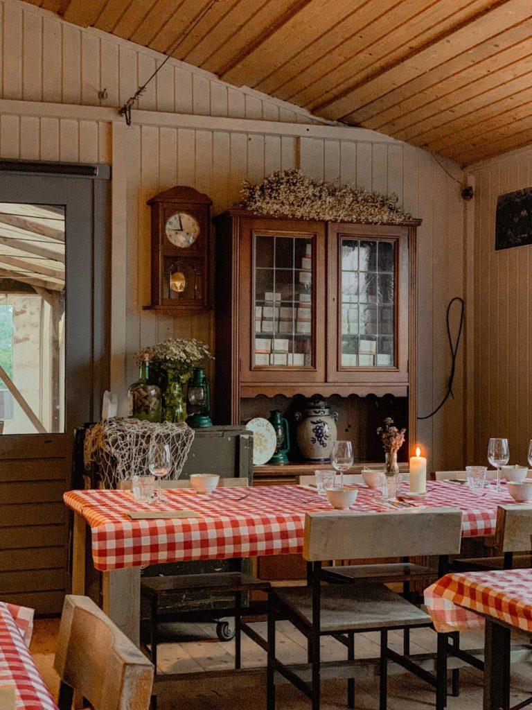 Pop-up restaurant Zomerlicht op Forteiland Pampus