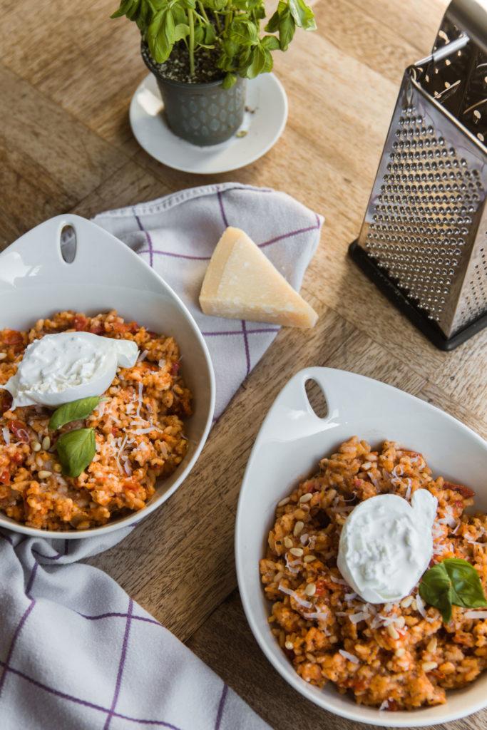 Recepten risotto met tomaat en burrata