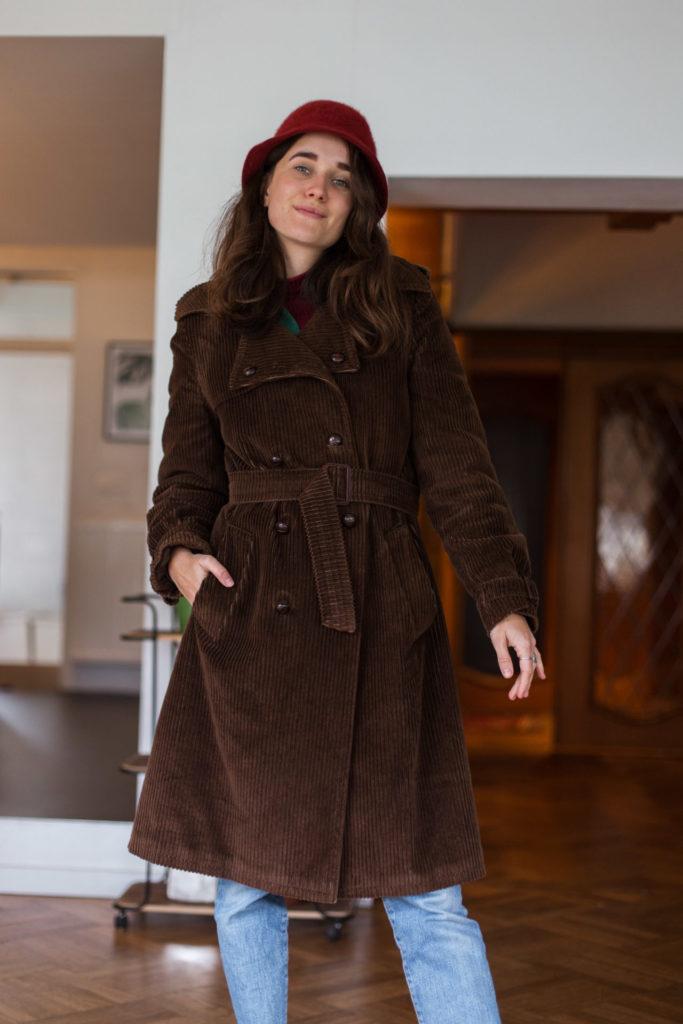 Beste tweedehands vondst van de afgelopen tijd: geribde jas