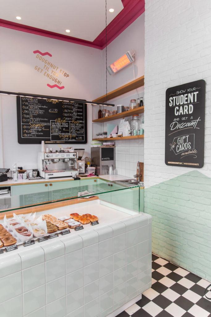 Donuts bij Hoeked Doughnuts in Antwerpen
