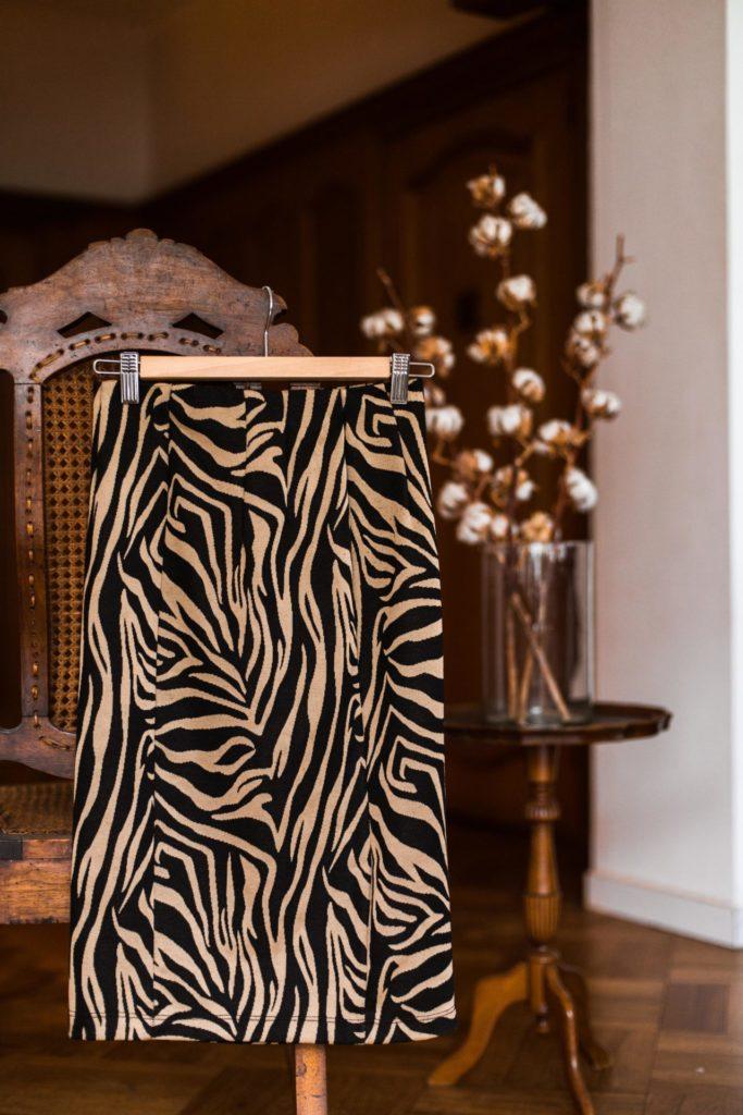 Beste kringloopvondsten van de afgelopen tijd: zebra rok van Stradivarius