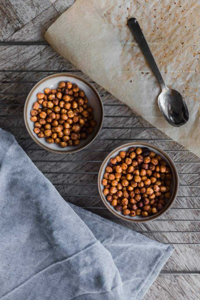 Simpel recept voor geroosterde kikkererwten uit de oven