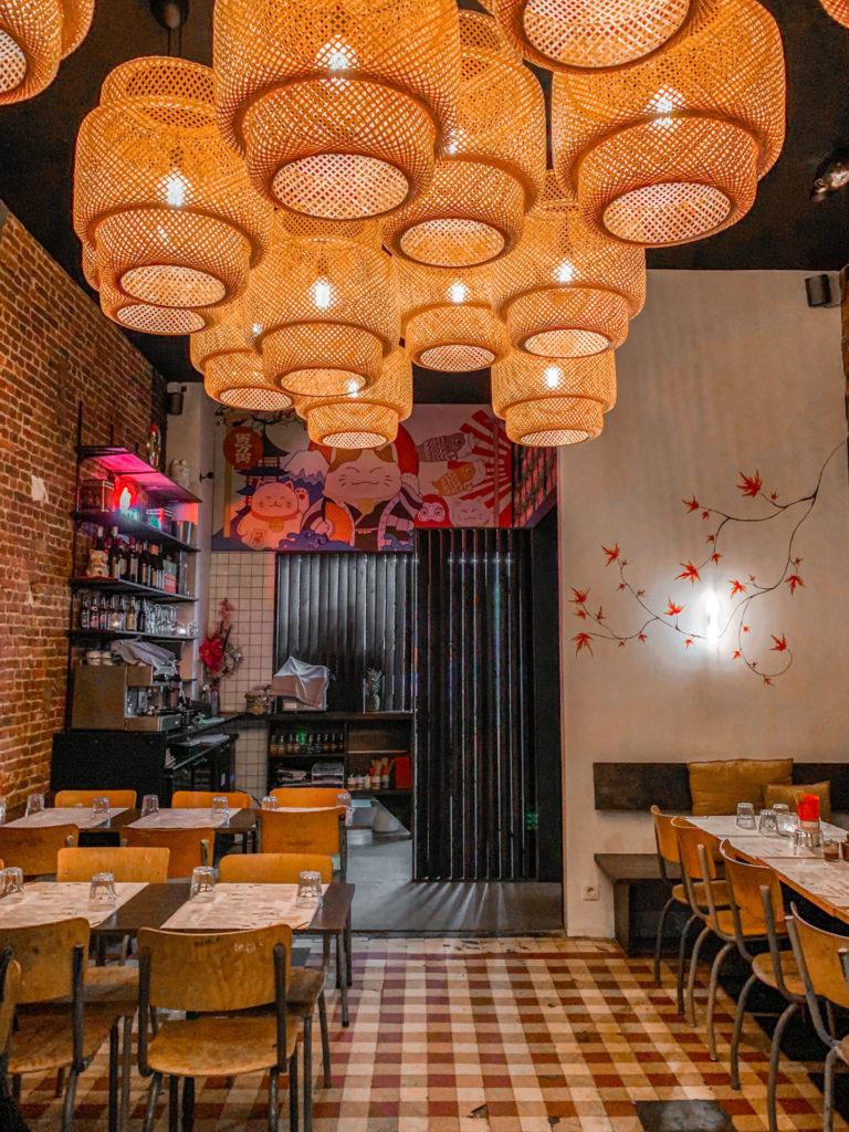 Het interieur van Aziatisch restaurant Sum Sum in Antwerpen