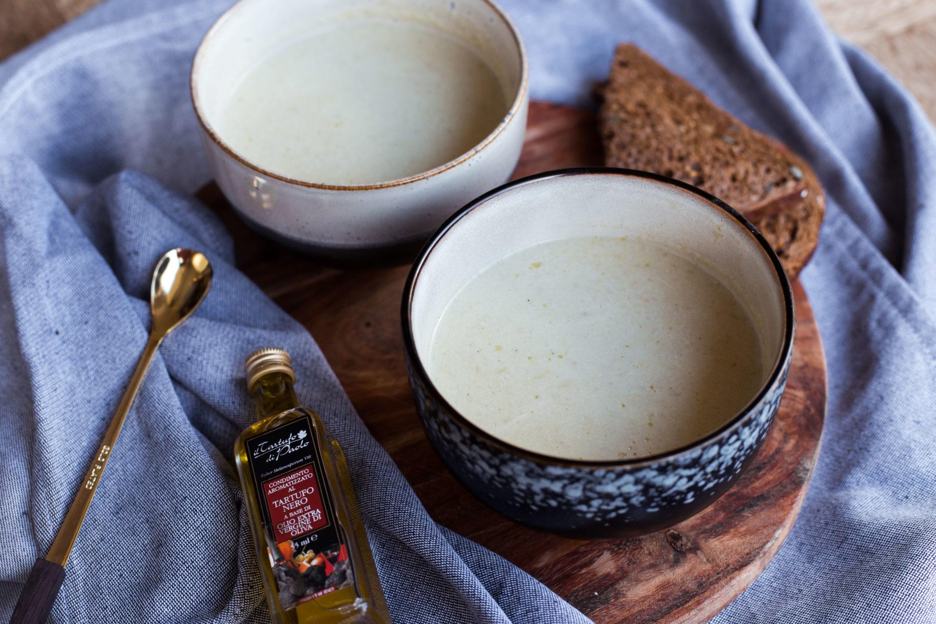 Vegan recept artisjokkensoep met truffelolie