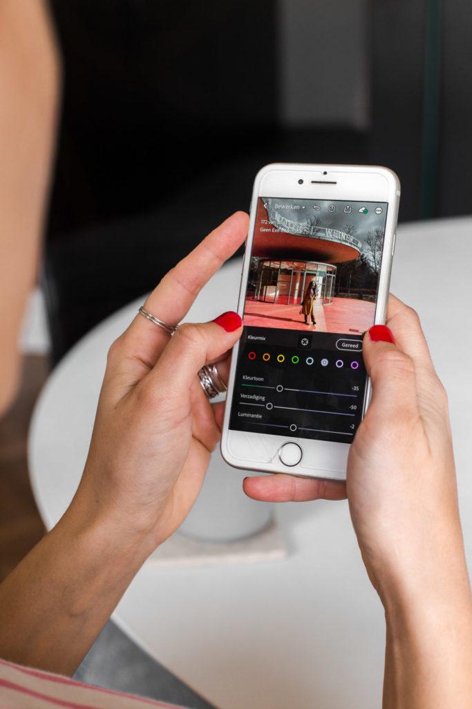 Instagram foto's bewerken via de app Lightroom