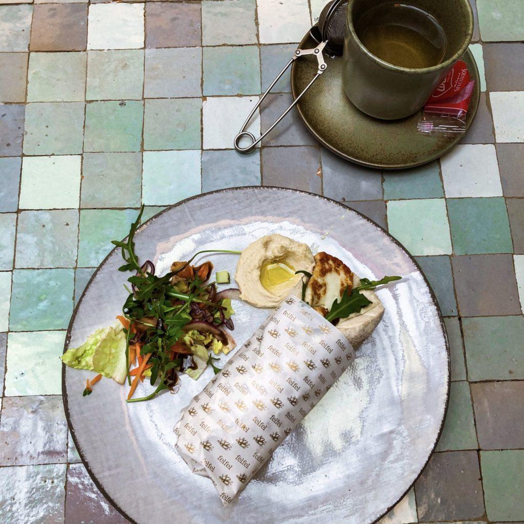 Lunchplek en restaurant Felfel in Antwerpen