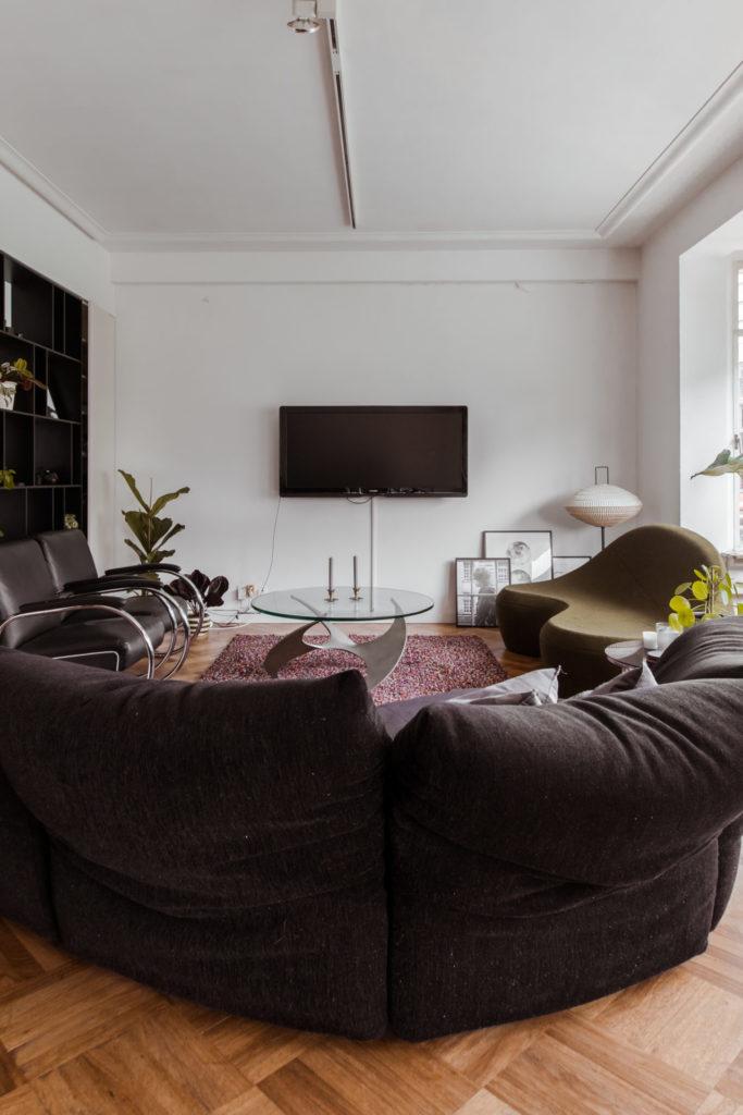 Ons appartement in Antwerpen: de woonkamer