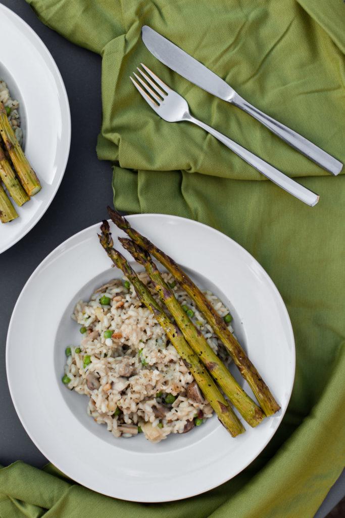 Recept - Risotto met gegrilde groene asperges