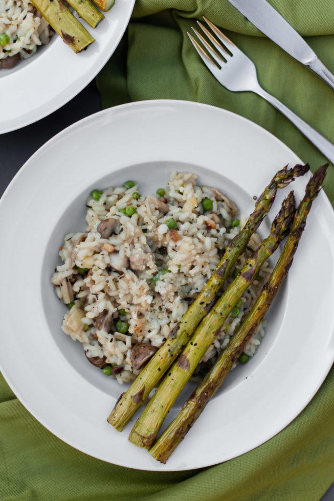 Recept - Risotto met groene asperges en oesterzwammen