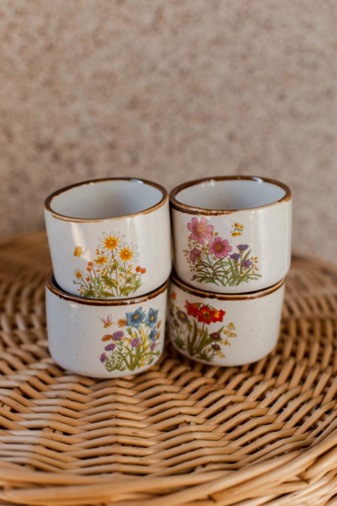 Beste tweedehands vondst: espresso kopjes met bloemenprint