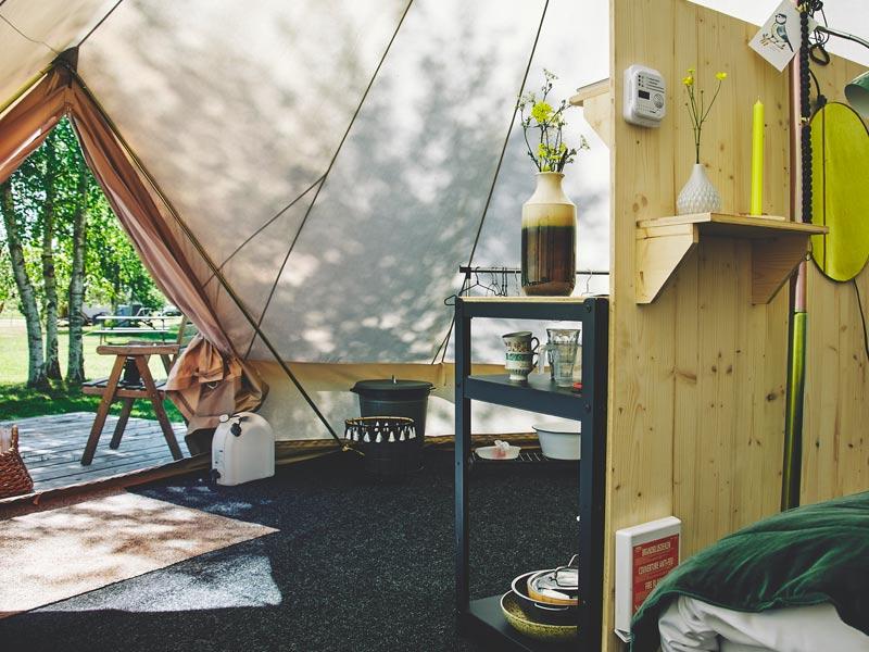 Duuzame accomodatie: Bell Tent bij Het Bos Roept
