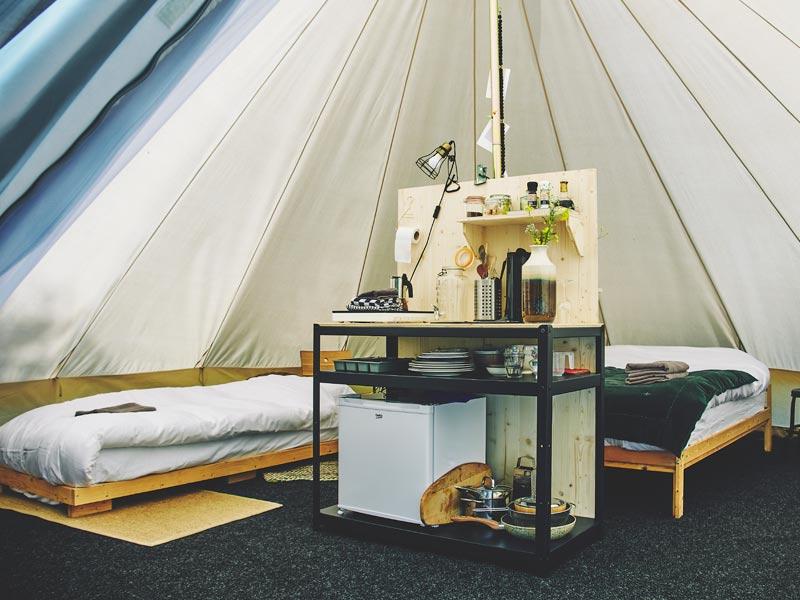 Duurzame accommodatie: Bell Tent van Het Bos Roept