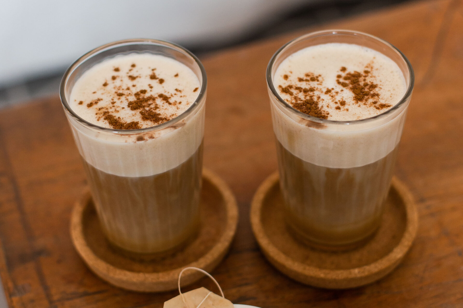 Vegan dirty chai latte