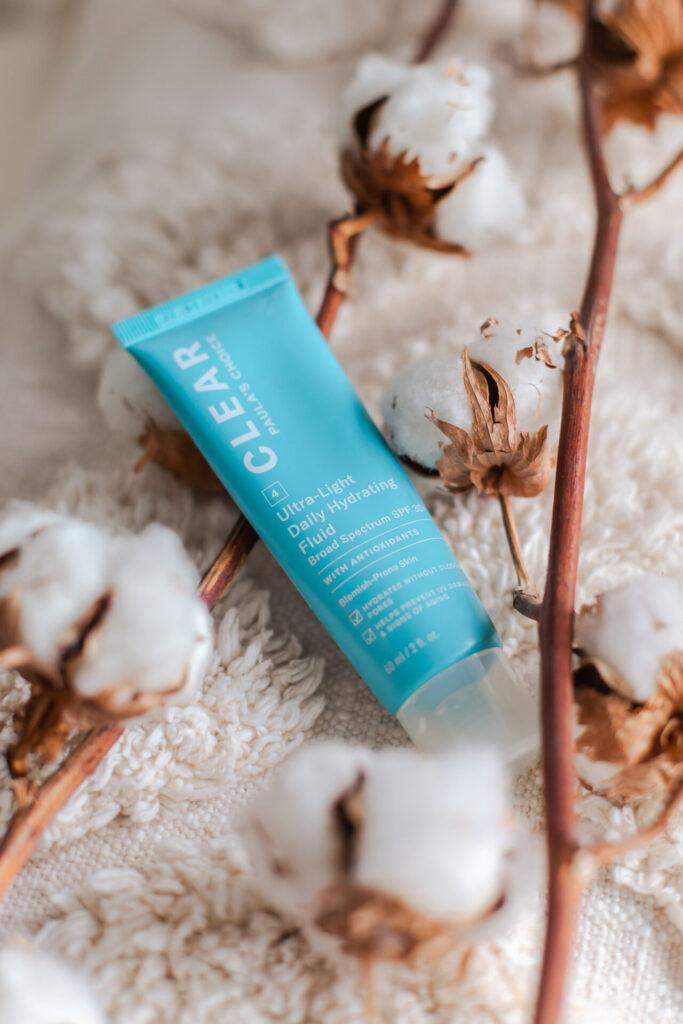 Huidverzorging van Paula's Choice om acne te verminderen