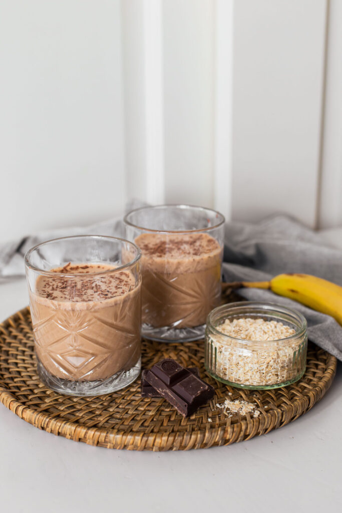 Vegan café mocha smoothie recept