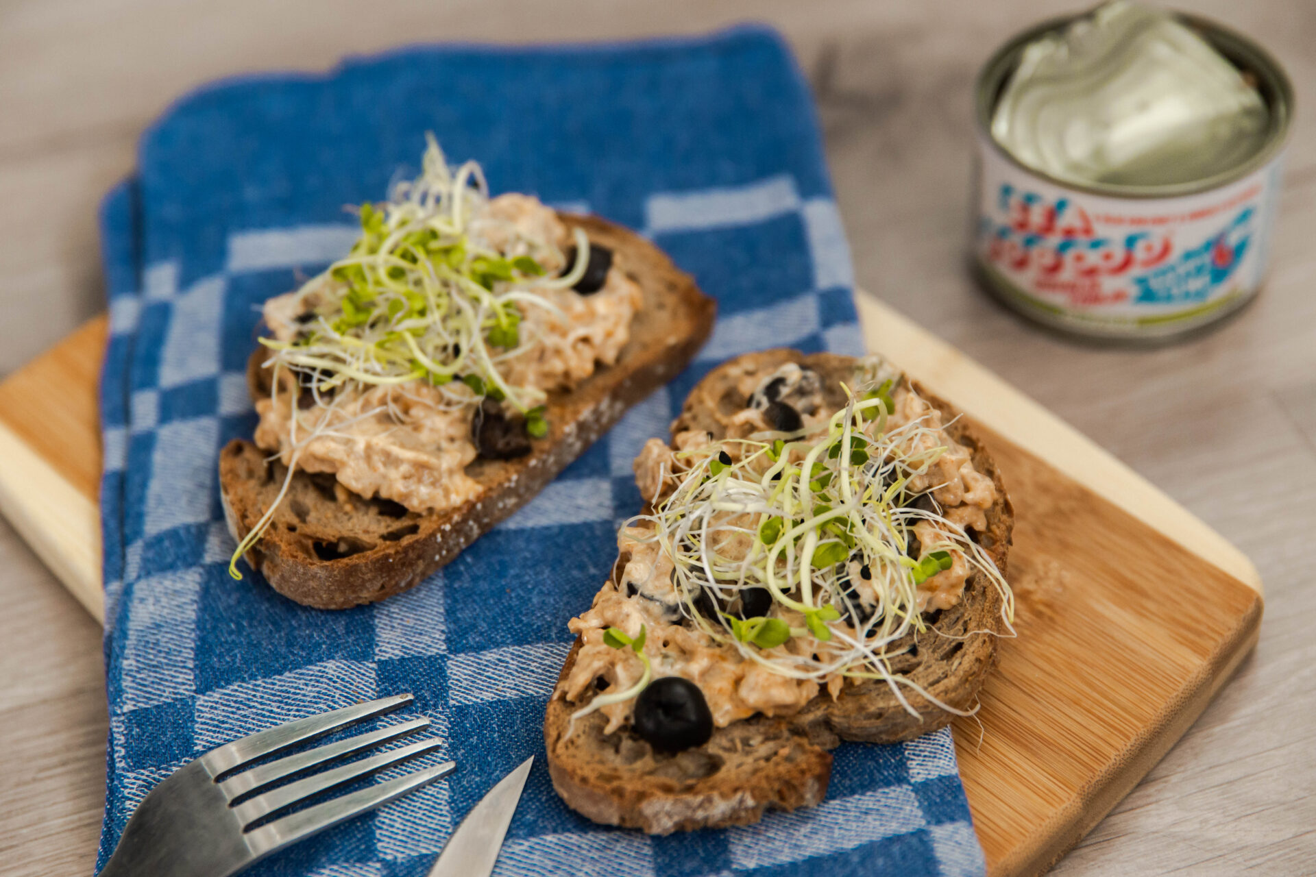 Recept voor visvrije tonijnsalade op toast